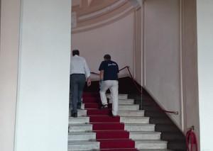 Accorinti in Prefettura per l'incontro con Stefano Trotta (immagine d'archivio)