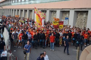 I tifosi del Messina a Villa San Giovanni