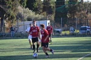 Una fase di gioco del match tra Pistunina ed Atletico Pedara (foto Omar Menolascina)