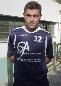 Ciccio Giuffrida con la maglia della SPadaforese nel 2008/09 (scatto di R.S.)