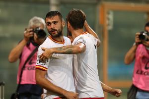 Altobello e Silvestri celebrano l'impresa (foto Gabriele Maricchiolo)