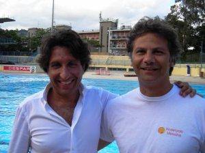 Il patron del club Felice Genovese ed il nuovo tecnico, il romano Luca Tarquini
