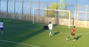 """Il secondo gol milazzese siglato da Venuti al """"Bacigalupo"""""""