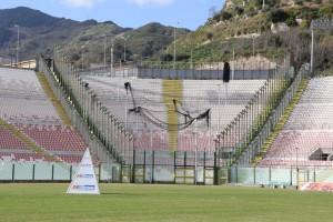 Il settore ospiti dello stadio San Filippo