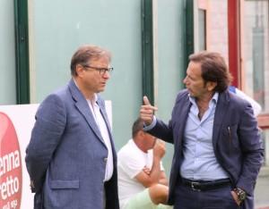Il patron del Messina Pietro Lo Monaco ed il presidente Isidoro Torrisi (foto Paolo Furrer)