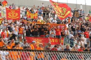 I tifosi del Messina in Curva Sud, gli unici a vincere domenica