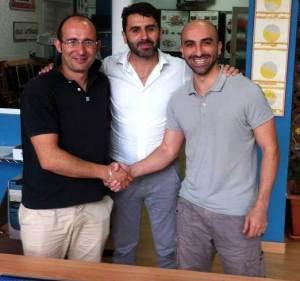 Mirko Calabrese, il presidente de L'Iniziativa di San Piero Patti Ivan Pintabona e Giuseppe Giuttari