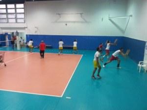 La Pallavolo Messina in allenamento