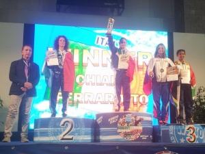 La campionessa mondiale Chiara Ferrarotto