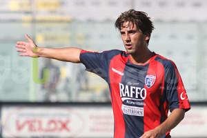 Pietro Balistreri con la divisa del Taranto, con cui ha firmato 13 reti nell'ultimo torneo di D