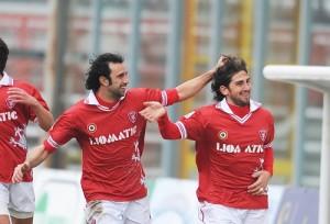 Pietro Balistreri celebra una rete realizzata con la maglia del Perugia