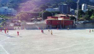 Una fase del match tra Spadaforese ed Aci Sant'Antonio