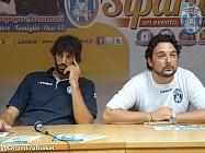 In conferenza stampa con Basile