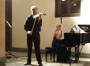 Il duo Galeano-Virzì durante il concerto