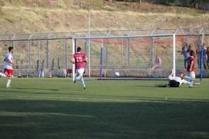 Una fase del precedente match tra Torregrotta e Real Aci