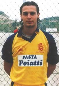 Un giovane Ivan Parlato con la maglia del Pistunina, ad inizio 2000