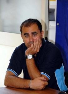 L'allenatore Peppe Romeo, al ritorno sulla panchina bianco blu