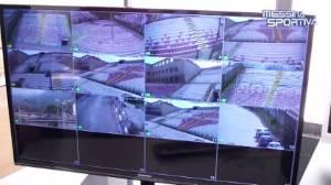 Il nuovo sofisticatissimo sistema di videosorveglianza dello stadio San Filippo