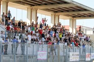Corposa la presenza di tifosi giunti da Piraino per sostenere il Due Torri