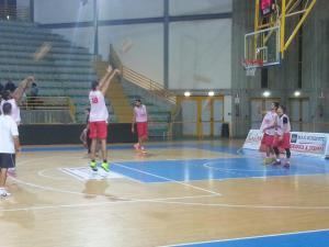 La Sigma Barcellona si allena al PalaSerranò di Patti