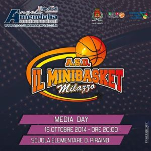Locandina Media Day Minibasket Milazzo