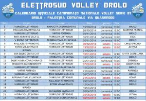Il calendario del Volley Brolo