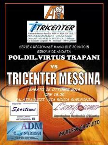 La locandina di Amatori Messina-Virtus Trapani