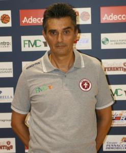 Il prepratore di Ferentino Djordje Kozul,ex di turno