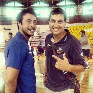 Mauro Saja ai tempi dell'esperienza a Barcellona con Alessandro Piazza