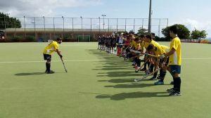 La formazione al completo della rappresentativa hockey del Cus Unime