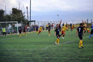 La rete realizzata dal Città di Messina con il Giarre, vanificata poi dalla sospensione e dal rinvio del match della scorsa settimana (foto Omar Menolascina)