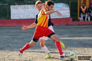 Iniziativa - Merì 0-1, una fase del match