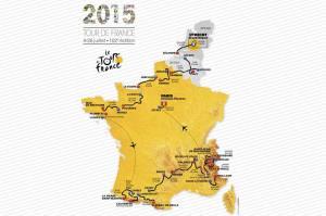 L'intero percorso del Tour 2015, che scatterà dall'Olanda