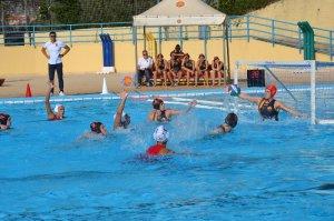 WP Messina-Sis Roma 12-7, una fase di gioco (Foto Omar Menolascina.