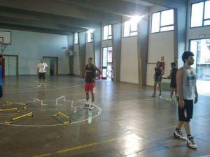 L'Amatori Messina durante un allenamento