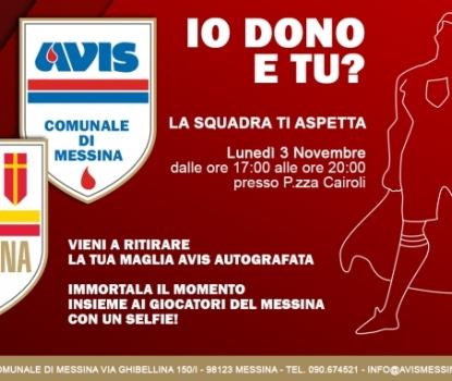 La locandina dell'iniziativa dell'Avis e dell'ACR Messina