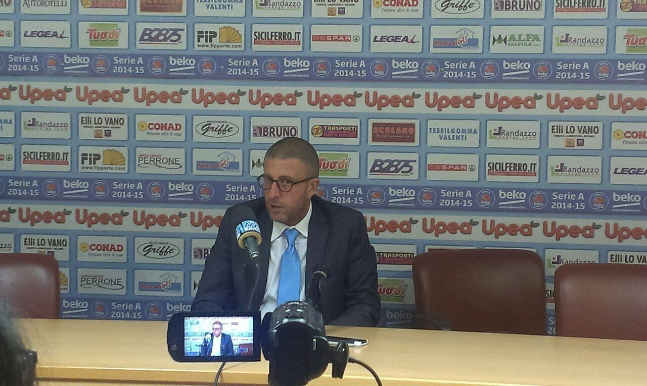Giulio Griccioli in conferenza stampa