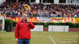 Il presidente Grasso soddisfatto dopo il fischio finale