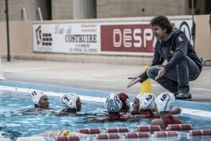 Un time out della Waterpolo Messina