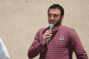 """Emanuele Manitta al """"Celeste"""", nel giorno dell'inaugurazione della stanza dedicata a Ciccio Currò"""
