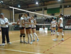 Andros - Effe Volley 0-3. l'ingresso in campo di Cristina Orlando