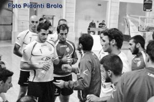 L'allenatore Romeo del Volley Brolo