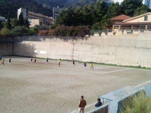 Una fase del match tra Spadaforese e Jonica
