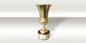 Il trofeo in palio, griffato TIM