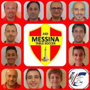 L'organico del Messina Table Soccer che milita nella Serie C della speciale disciplina