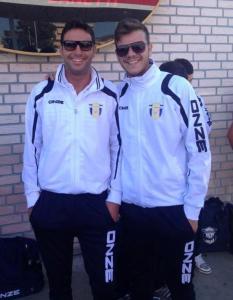 L'allenatore del Contesse Andrea Argento ed il centrocampista Pandolfino