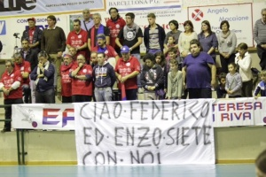 I tifosi dell'Effe Volley a Barcellona
