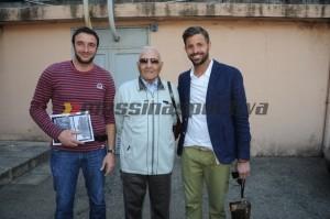 Tre grandi ex numeri 1 del Messina: da sinistra a destra Emanuele Manitta, Pippo Salerno e Marco Storari