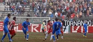 Una fase del big-match tra Vittoria e Siracusa