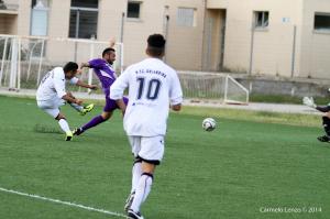 Galia porta meritatamente in vantaggio l'Orlandina (foto Carmelo Lenzo)